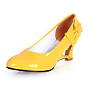 cheap Shoes Accessories-Women's Shoes Leatherette Spring / Summer Novelty Wedge Heel Bowknot Black / Yellow / Red / Dress