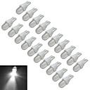 billige LED-lyspærer-20pcs 0.5 W 30-50 lm 1 LED perler Kjølig hvit 12 V / 20 stk.