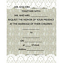 billige Antrekk til latindans-Svare Kort Bryllupsinvitasjoner Flat Kort Personalisert