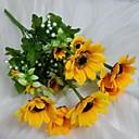 Χαμηλού Κόστους Αυτοκόλλητα, Ταμπέλες & Ετικέτες-Ψεύτικα λουλούδια 1 Κλαδί Ποιμενικό Στυλ Ηλιοτρόπια Λουλούδι για Τραπέζι