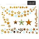 hesapli tırnak Formlar-- Dövme Etiketleri - Temalı - Mücevher Serileri - Kadın/Girl/Yetişkin/Genç - Altın Rengi - Kağıt - #(1) -Adet #(15x11.5)