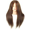 tanie OBD-18 calowy mieszane salon fryzjerski głowy kobiet manekin z make-up w kolorze brązowym