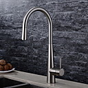 cheap Kitchen Faucets-Kitchen faucet - Contemporary Brushed Pull-out / ­Pull-down Deck Mounted
