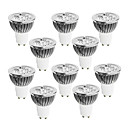 cheap LED Bi-pin Lights-10pcs 4W 400-450 lm GU10 LED Spotlight 4 leds High Power LED Dimmable Warm White Cold White White 220-240