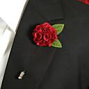abordables Pines y Broches-Hombre Broche - Flor Broche Rojo Para
