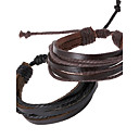 cheap Bracelets-Men's - Leather Chain, Personalized Bracelet Black / Brown For Daily