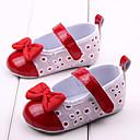 رخيصةأون أحذية البيبي-فتيات أحذية قماش / PU لربيع وصيف مريح / بداية المشي اخفاف عقدة إلى أحمر / وردي