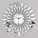 abordables Relojes de Pared Modernos y Contemporáneos-Moderno / Contemporáneo Vidrio / Metal Redondo Interior / Exterior / Interior