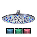cheap LED Shower Heads-Contemporary Rain Shower Brushed Feature - Rainfall / LED, Shower Head