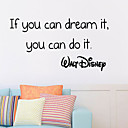 cheap Wall Stickers-Decorative Wall Stickers - Words & Quotes Wall Stickers Words & Quotes Living Room Bedroom Bathroom