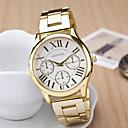 preiswerte Modische Uhren-Damen Armbanduhr Quartz Armbanduhren für den Alltag Edelstahl Band Analog Charme Modisch Gold