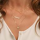 olcso Divat nyaklánc-Női Rakott nyakláncok - minimalista stílusú Arany, Ezüst Nyakláncok Ékszerek Kompatibilitás
