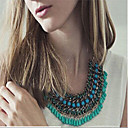 cheap Necklaces-Women's Statement Necklace - Silver Plated Drop Bohemian, Fashion, Boho Green, Blue, Pink Necklace For Wedding, Party, Daily