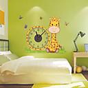 baratos Desenhos Animados Relógios de Parede-Moderno/Contemporâneo Animais Personagens Inspiracional Casamento Família Amigos Relógio de parede,Inovador Plástico Outros