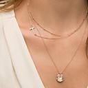 preiswerte Modische Halsketten-Damen Layered Ketten - Kreuz Farbbildschirm Modische Halsketten Schmuck Für
