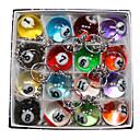 baratos Bilhar & Sinuca-16 x bonito multicolor chaveiro bilhar simulação de metal anel chave