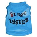 billiga Hundkläder-Katt Hund T-shirt Hundkläder Bokstav & Nummer Röd Blå Rosa Terylen Kostym För husdjur Cosplay