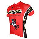 tanie Stroje rowerowe-ILPALADINO Męskie Krótki rękaw Koszulka rowerowa - Czerwony Rower Dżersej Top Oddychający Szybkie wysychanie Odporność na promieniowanie UV Sport Poliester 100% poliester Terylen Kolarstwo górskie