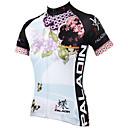 povoljno Party pokrivala za glavu-ILPALADINO Žene Kratkih rukava Biciklistička majica - Plava Cvjetni / Botanički Bicikl Biciklistička majica, Quick dry, Ultraviolet
