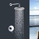 preiswerte Duscharmaturen-Moderne Chrom Wandmontage Keramisches Ventil Bath Shower Mixer Taps / Messing / Einzigen Handgriff Zwei Löcher