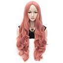 billige Syntetiske parykker uden hætte-Syntetiske parykker / Kostumeparykker Dame Krop Bølge Syntetisk hår Paryk Meget lang Lågløs Lys pink