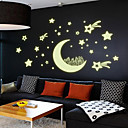 cheap Wall Stickers-Shapes Wall Stickers Luminous Wall Stickers Decorative Wall Stickers, Vinyl Home Decoration Wall Decal Wall Decoration