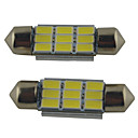 cheap Decoration Strips-2pcs 39mm / 36mm / 41mm Car Light Bulbs 2W SMD 5630 215lm 9 Reading Light