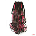 preiswerte Haarteil-Große Wellen Synthetische Haare Haarstück Haar-Verlängerung 18 Zoll Regenbogen