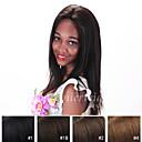 billige Syntetiske parykker uten hette-Ekte hår Blonde Forside Parykk Rett Parykk 130% Naturlig hårlinje / Afroamerikansk parykk / 100 % håndknyttet Dame Kort / Medium / Lang Blondeparykker med menneskehår