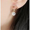 abordables Pendientes-Mujer Cristal Pendientes cortos - Chapado en oro 18K, Brillante, Chapado en Oro Europeo, Moda Dorado Para / Diamante Sintético / Cristal Austriaco