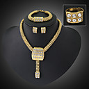 cheap Jewelry Sets-Crystal Jewelry Set - Statement, Vintage, Party Include Gold For Party