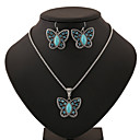 cheap Jewelry Sets-Turquoise Jewelry Set - Turquoise Butterfly, Animal Include Blue For Party Birthday Engagement / Earrings / Necklace