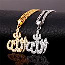 hesapli Moda Bileklikler-Kadın's Kübik Zirconia Uçlu Kolyeler - Zirkon, Kübik Zirconia, Altın Kaplama Aşk Lüks Altın, Gümüş Kolyeler Mücevher Uyumluluk Günlük