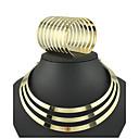 billige Smykke Sett-Dame Smykkesett Armbånd / Halskjeder - Mansjett / Vintage / Fest Sirkelformet Gull Smykke Sett Til