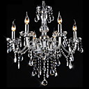 cheap Chandeliers-6-Light Candle-style Chandelier Ambient Light Electroplated Crystal Glass Crystal 110-120V / 220-240V Warm White Bulb Not Included / E12 / E14