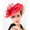 cheap Party Headpieces-Flax / Feather Fascinators with 1 Wedding / Special Occasion / Outdoor Headpiece