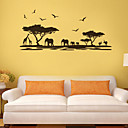 cheap Wall Stickers-Landscape Animals Botanical Cartoon Wall Stickers Plane Wall Stickers Decorative Wall Stickers, PVC Home Decoration Wall Decal Wall