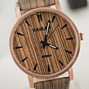 preiswerte Modische Uhren-Herrn Damen Unisex Uhr Holz Einzigartige kreative Uhr Armbanduhr Quartz Wasserdicht hölzern PU Band Retro Weiß Braun Gelb Beige
