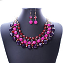 cheap Necklaces-Women's Statement Necklace - Statement Purple, Rainbow Necklace For Party