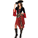 cheap Men's & Women's Halloween Costumes-Pirate Cosplay Costume / Party Costume Women's Halloween / Carnival Festival / Holiday Halloween Costumes Patchwork