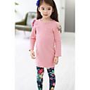 preiswerte Kleidersets für Mädchen-Mädchen Kleidungs Set Solide Baumwolle Polyester Winter Frühling Herbst Langarm Blumig Marinenblau Rosa