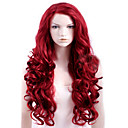 cheap Synthetic Capless Wigs-capless red extra long high quality natural curly synthetic wig