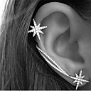 preiswerte Modische Ohrringe-Damen Kristall Ohr-Stulpen Ohrring Ohr Kletterer - Strass Stern Retro, Party, Büro Farbbildschirm Für Alltag