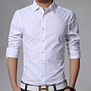 cheap Girls' Shoes-Men's Business Casual Plus Size Slim Shirt - Solid Colored Classic Collar