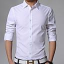 abordables Pelucas Cosplay-Hombre Negocios Casual Tallas Grandes Camisa, Cuello Inglés Delgado Un Color