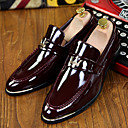 cheap Men's Slip-ons & Loafers-Men's Formal Shoes Patent Leather Spring / Fall Comfort Loafers & Slip-Ons Slip Resistant Black / Dark Blue / Burgundy / Tassel / Party & Evening / Novelty Shoes