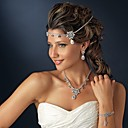 cheap Party Headpieces-Women's Elegant Zircon Headband Flower / forehead jewelry