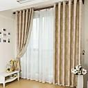 halpa Ikkunoiden verhot-räätälöity pimennysverhot verhot kaksi paneelia beige / jacquard / olohuone