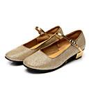 זול מתנות לחתונה-בגדי ריקוד נשים נעליים מודרניות עדרים שטוחות / סנדלים פאייטים עקב נמוך ללא התאמה אישית נעלי ריקוד כסף / מוזהב / אימון / מקצועי