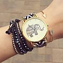 baratos Pinturas Abstratas-Mulheres Bracele Relógio Confeccionada à Mão / Relógio Casual Tecido Banda Flor / Boêmio / Fashion Preta / Um ano / Tianqiu 377